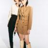 Grace Belted Viscon-Blend Jacket Dress
